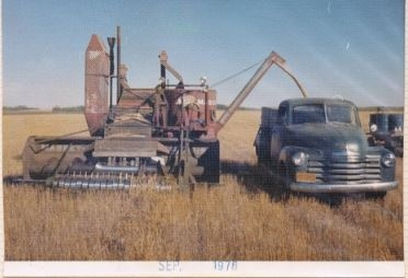 Beamish Model 21 harvesting in 1976