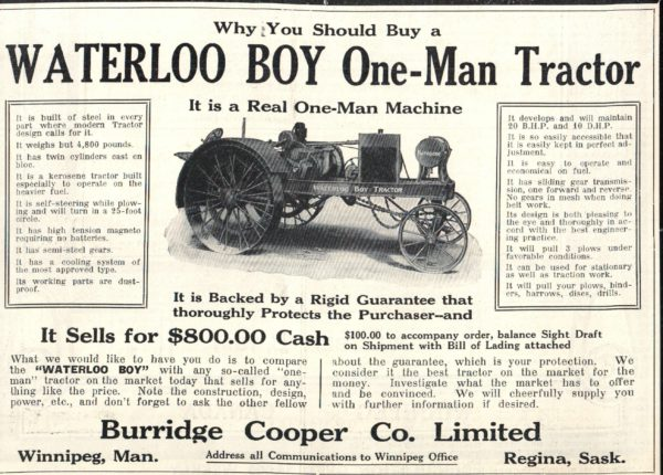 Waterloo Boy Tractor Ad