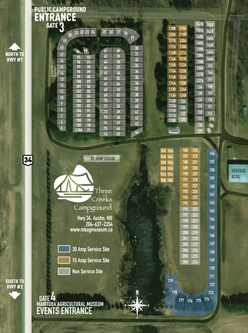 Three Creeks Campground map
