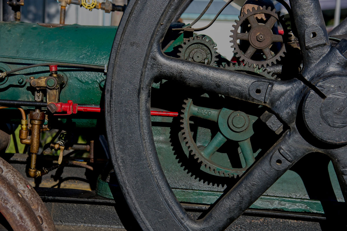 Photo of gears of a tractor